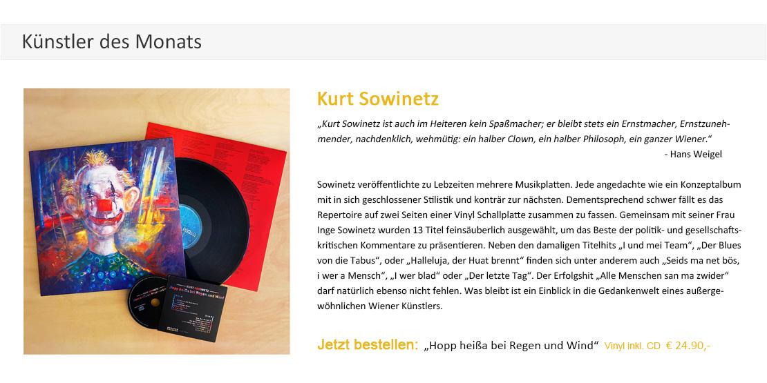 Kurt Sowinetz Hopp heißa bei Regen und Wind